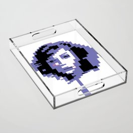 8 Bit Portrait of a Girl Acrylic Tray