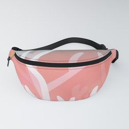 Living coral & Viridian green Fanny Pack