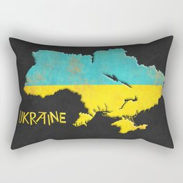 Ukraine Vintage Map Rectangular Pillow