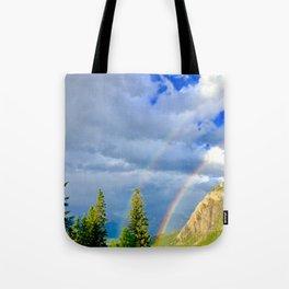 Canadian Rocky Rainbow Tote Bag