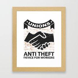 Labor Union of America Pro Union Worker Protest Light Framed Art Print