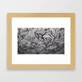 Flow - Ink Framed Art Print