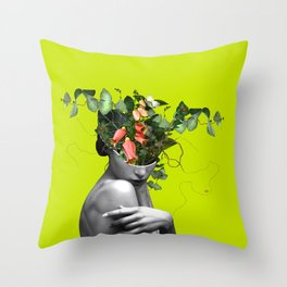 Lady Flowers 2021 Throw Pillow