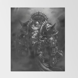Champion Of Chaos Undivided Throw Blanket