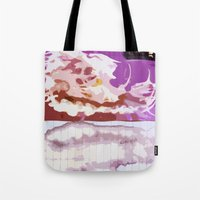 bleach Tote Bags featuring Pink Bleach by Bzerk Creative