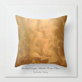 Brushed Copper Metallic Throw Pillow Art Print - Postmodernism - Jeff Koons Inspired Pop Art Canvas Print