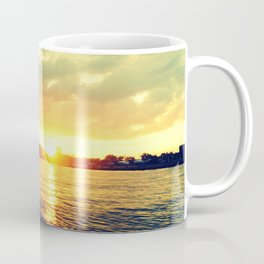 Sunset watEr :Houses Off the River Coffee Mug