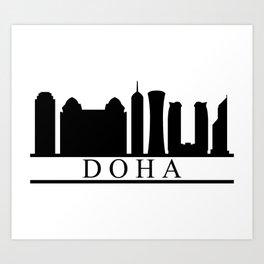 skyline doha Art Print
