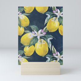Lemons pattern Mini Art Print