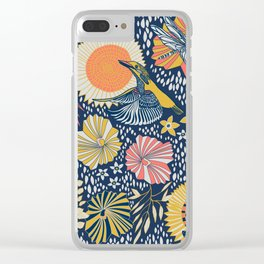 Coral kingfisher Clear iPhone Case