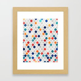 Sea & Spice Moroccan Pattern Framed Art Print