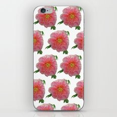 Peony Flower Print for Spring & Summer iPhone & iPod Skin