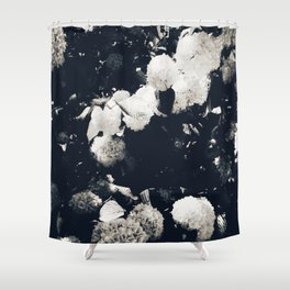 High Contrast Black and White Snowballs II Shower Curtain