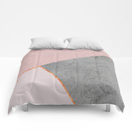 BLUSH GRAY COPPER GEOMETRICAL Comforters
