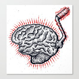 Brain Moto Canvas Print