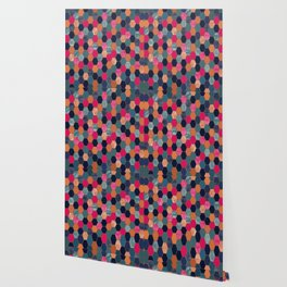 Colorful Honeycomb Wallpaper