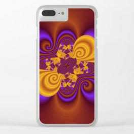 3D - abstraction -53- Clear iPhone Case