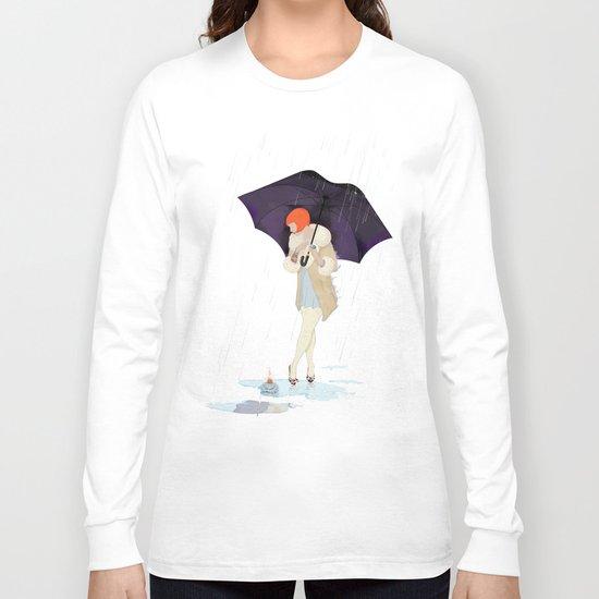 RAINY DAY FLOWER Long Sleeve T-shirt