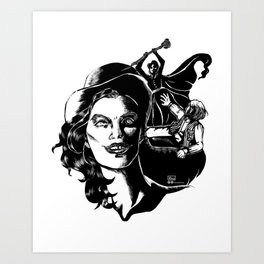Dr Jekyll and Miss Hyde Art Print