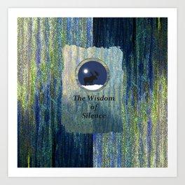 Wisdom of Silence Moose Spirit Art Art Print