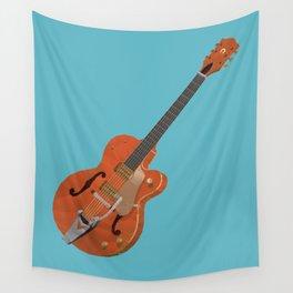 Gretsch Chet Atkins Guitar polygon art Wall Tapestry