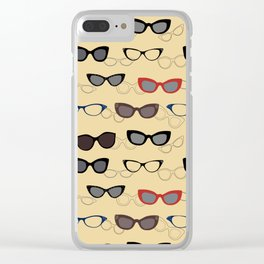 1950's Specs on Sunbeam Yellow Clear iPhone Case
