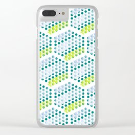 Cool Crystals Pattern Clear iPhone Case