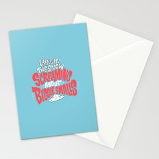 Lying in the snow screaming... Stationery Cards