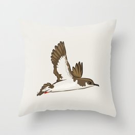 Simple Minimalist Manx Shearwater Flying Throw Pillow