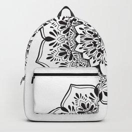 Blackwork Mandala Henna Inspired Backpack