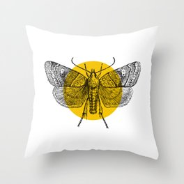 Oldie-V Throw Pillow