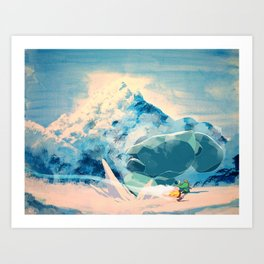 Icy Clash Art Print