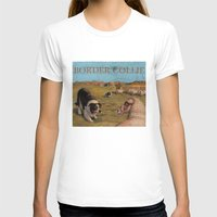 border collie T-shirts featuring Border Collie by Jeff Crosby