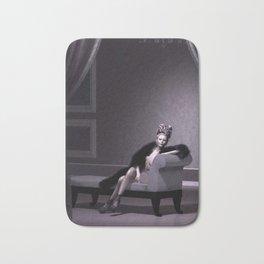 Beautiful courtesan in her lavender salon Bath Mat