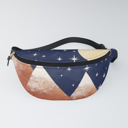 Full Moon In The Mountains Fanny Pack