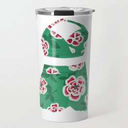 Vintage Mint Green Floral Bathing Suit Travel Mug