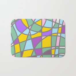 Stain Glass Abstract Meditation Easter Painting Bath Mat