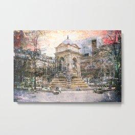 Parisian Mosaic - Piece 27 - Fontaine des Innocents Metal Print