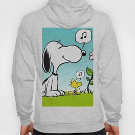 snoopy flower and music Hoody