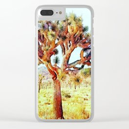 Joshua Tree VG Hills by CREYES Clear iPhone Case