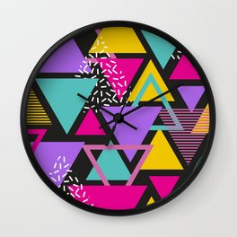 Colorul Triangle Abstract Wall Clock