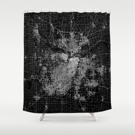Kansas City map Shower Curtain