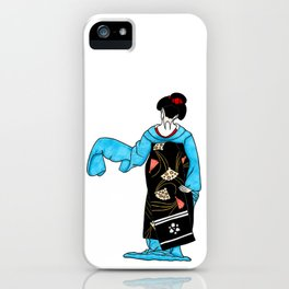 Dancing maiko - ink illustration iPhone Case
