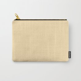 Pale Peach Solid Color Carry-All Pouch