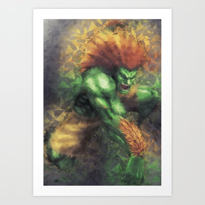 Street Fighter 2 - Blanka Art Print