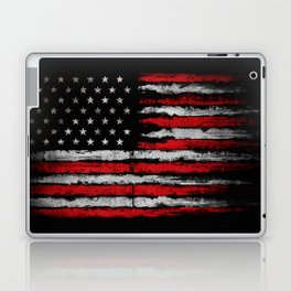 Red & white Grunge American flag Laptop & iPad Skin