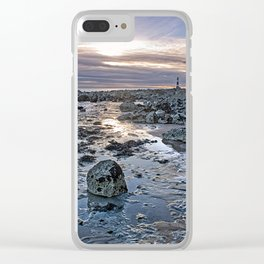 Sundown At The Lighthouse Clear iPhone Case