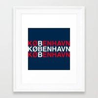 copenhagen Framed Art Prints featuring COPENHAGEN by eyesblau