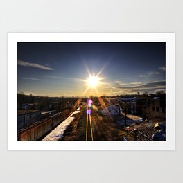 Sunny Midwinter Afternoon Art Print