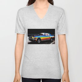 Muscle Car Mustang By Annie Zeno  Unisex V-Neck